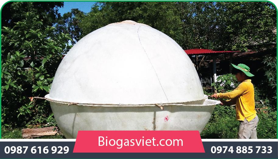 hầm biogas composite 2.25m hệ cải tiến