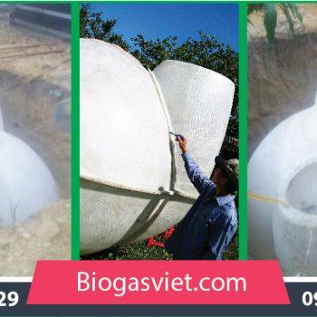 Hầm biogas composite đường kính 2.40m hệ cải tiến BVC