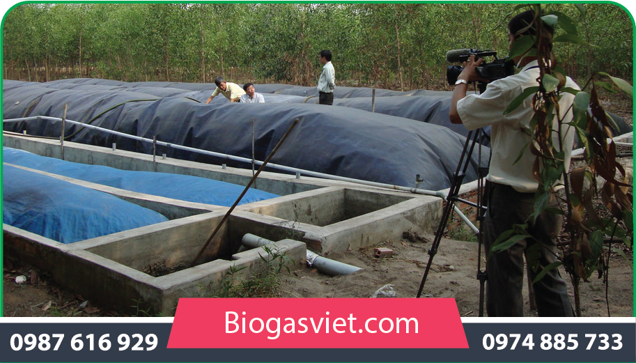 xây dựng hầm biogas phủ bạt hpde