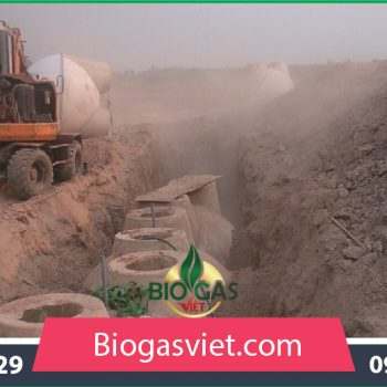 Hầm biogas đường kính 1.90m thông thường