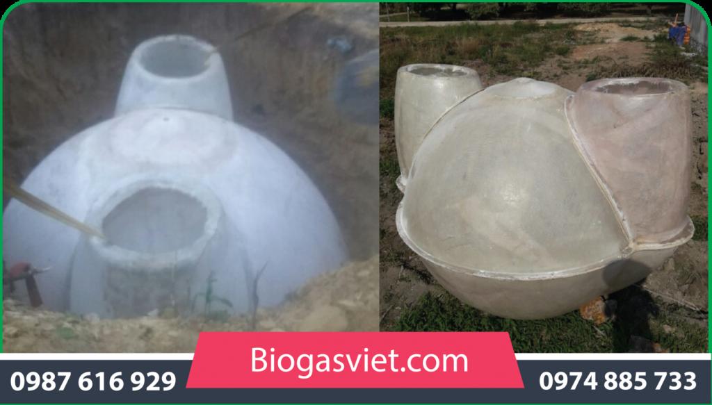 hầm biogas cải tiến bvc