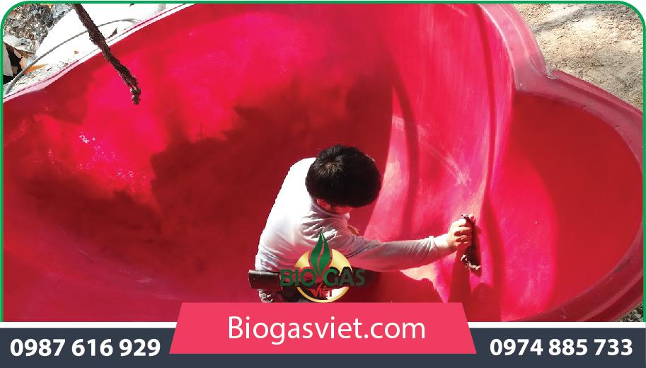 hầm ủ biogas
