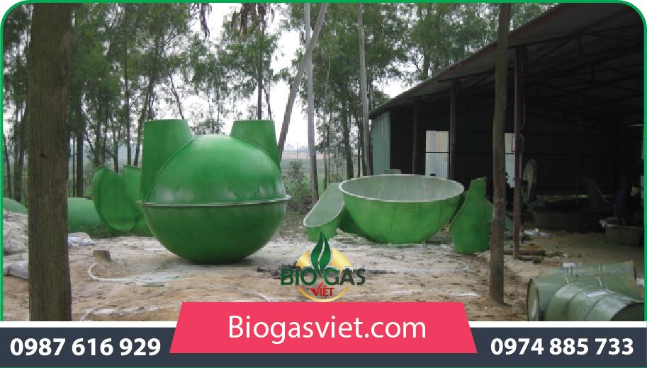 xây dựng hầm biogas nhựa composite cải tiến bvc