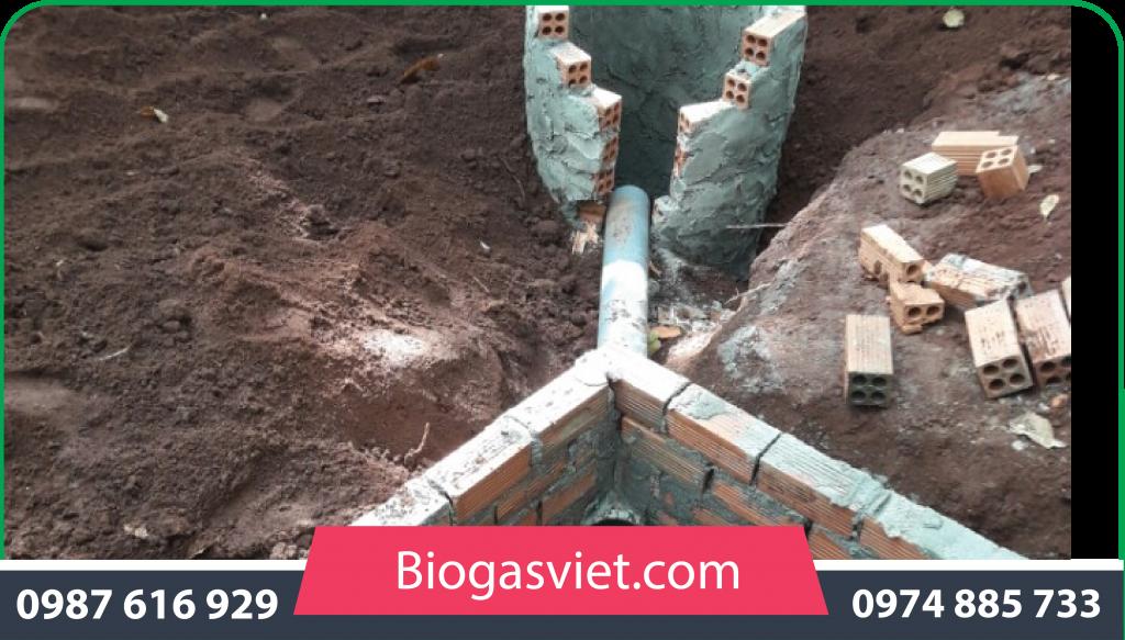 ham biogas bằng gạch