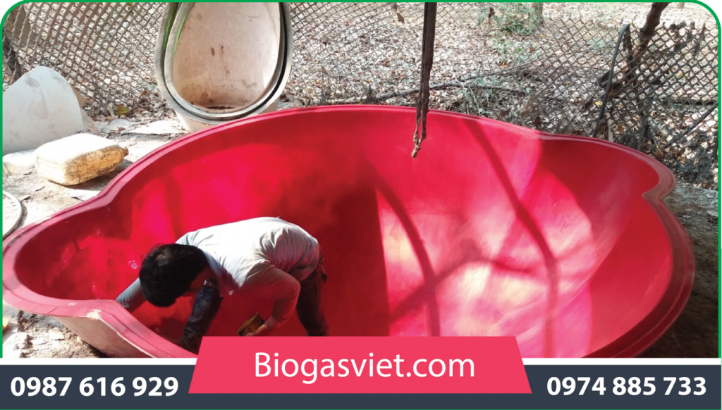 hầm bể biogas cải tiến bvc