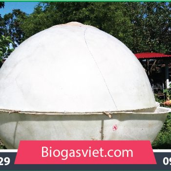 Hầm biogas composite đường kính 2.90m hệ cải tiến BVC