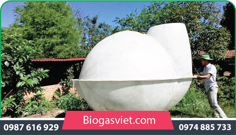 hầm biogas composite 2.90m cải tiến bvc