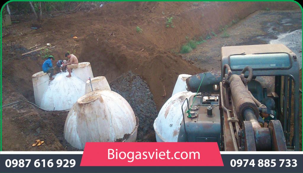 hầm biogas gia đình