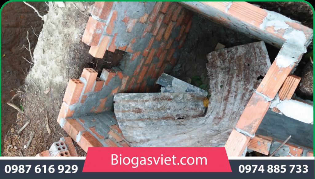 hầm biogas nhựa tái chế