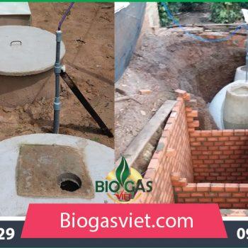 Hầm biogas đường kính 2.90m mẫu thông thường