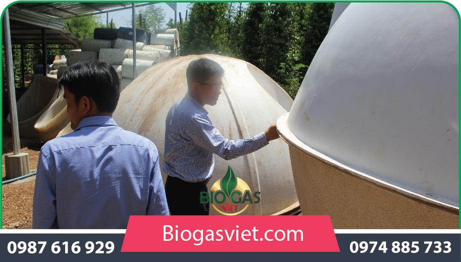 thi công hầm biogas nhựa composite
