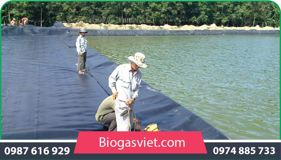 tư vấn và xây dựng hầm biogas phủ bạt hpde