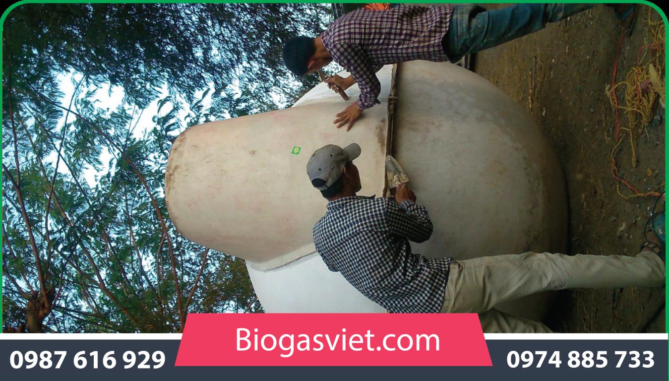 giá hầm biogas bằng nhựa