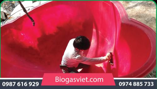 hầm bể biogas cải tiến
