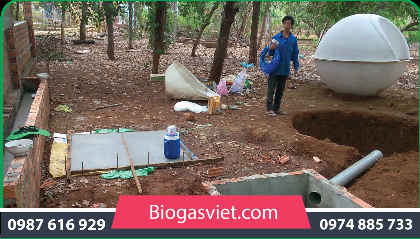hầm biogas mini