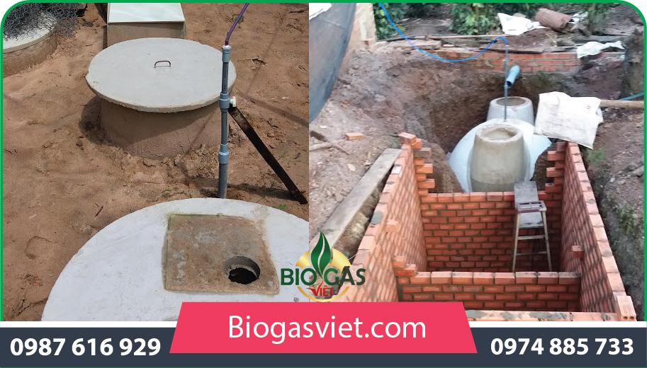 thiết kê thi công hầm ủ biogas