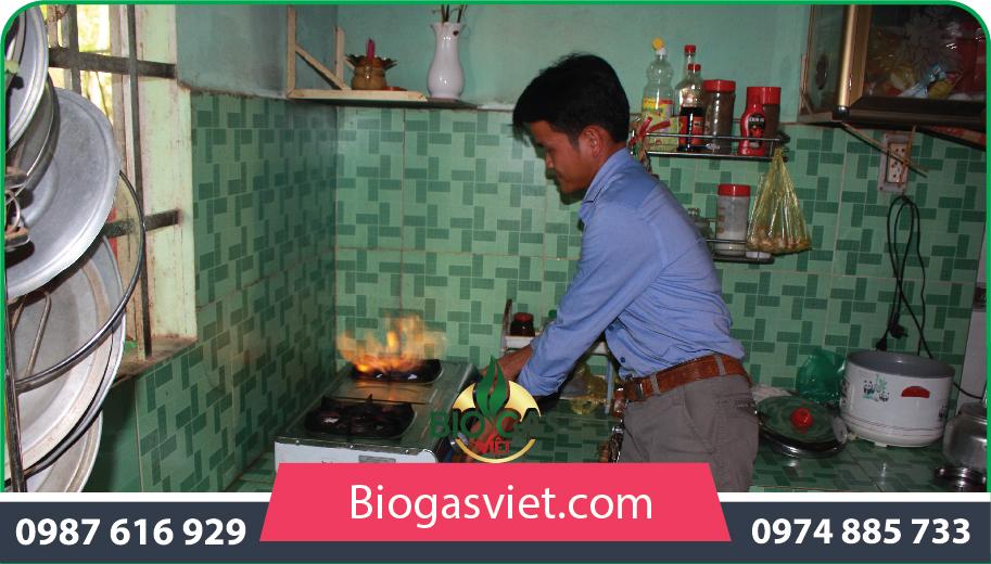 gas dùng thoải mái nhờ xây dựng hầm biogas