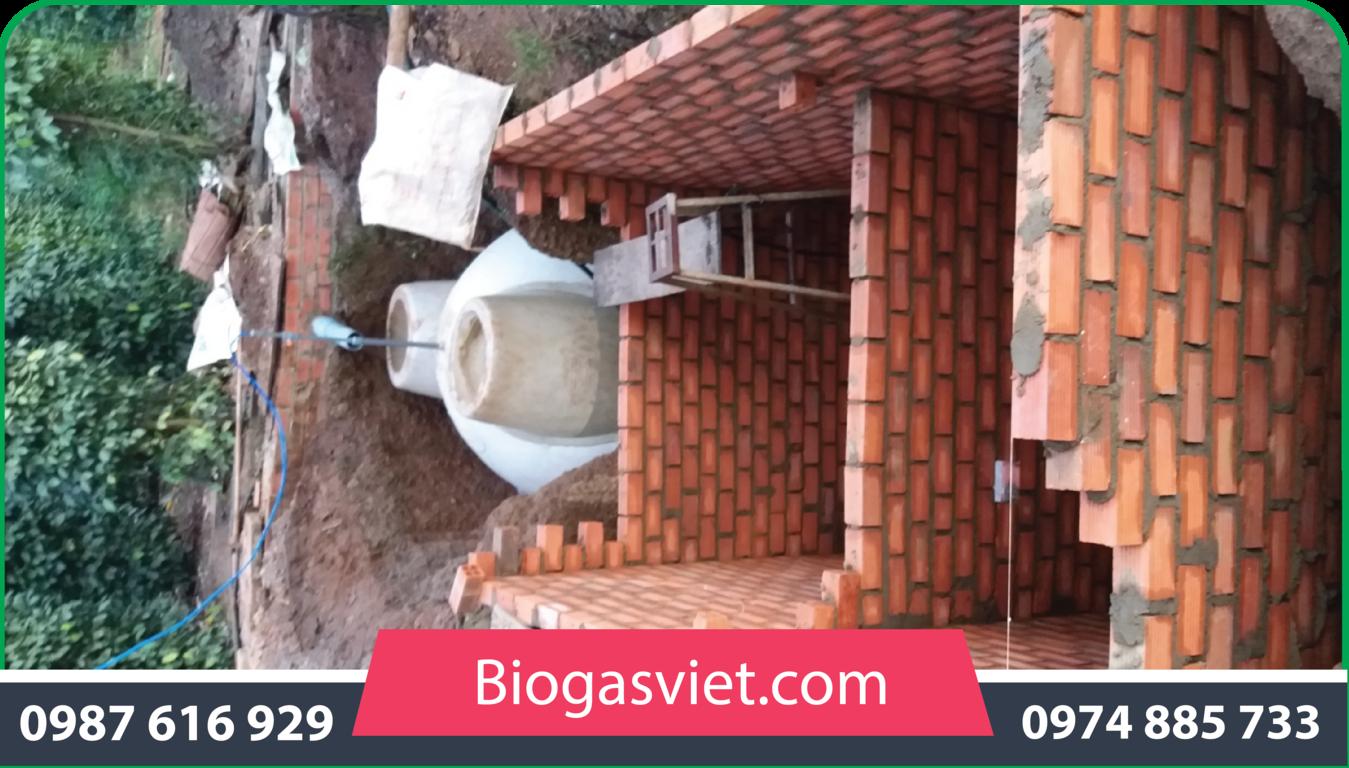 hầm biogas bằng gạch