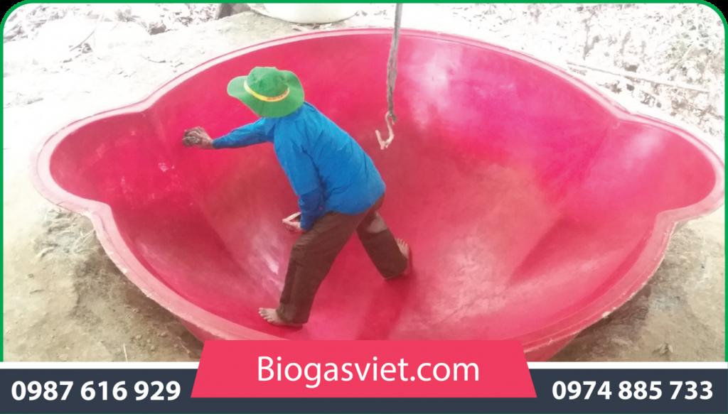 hầm khí biogas composite