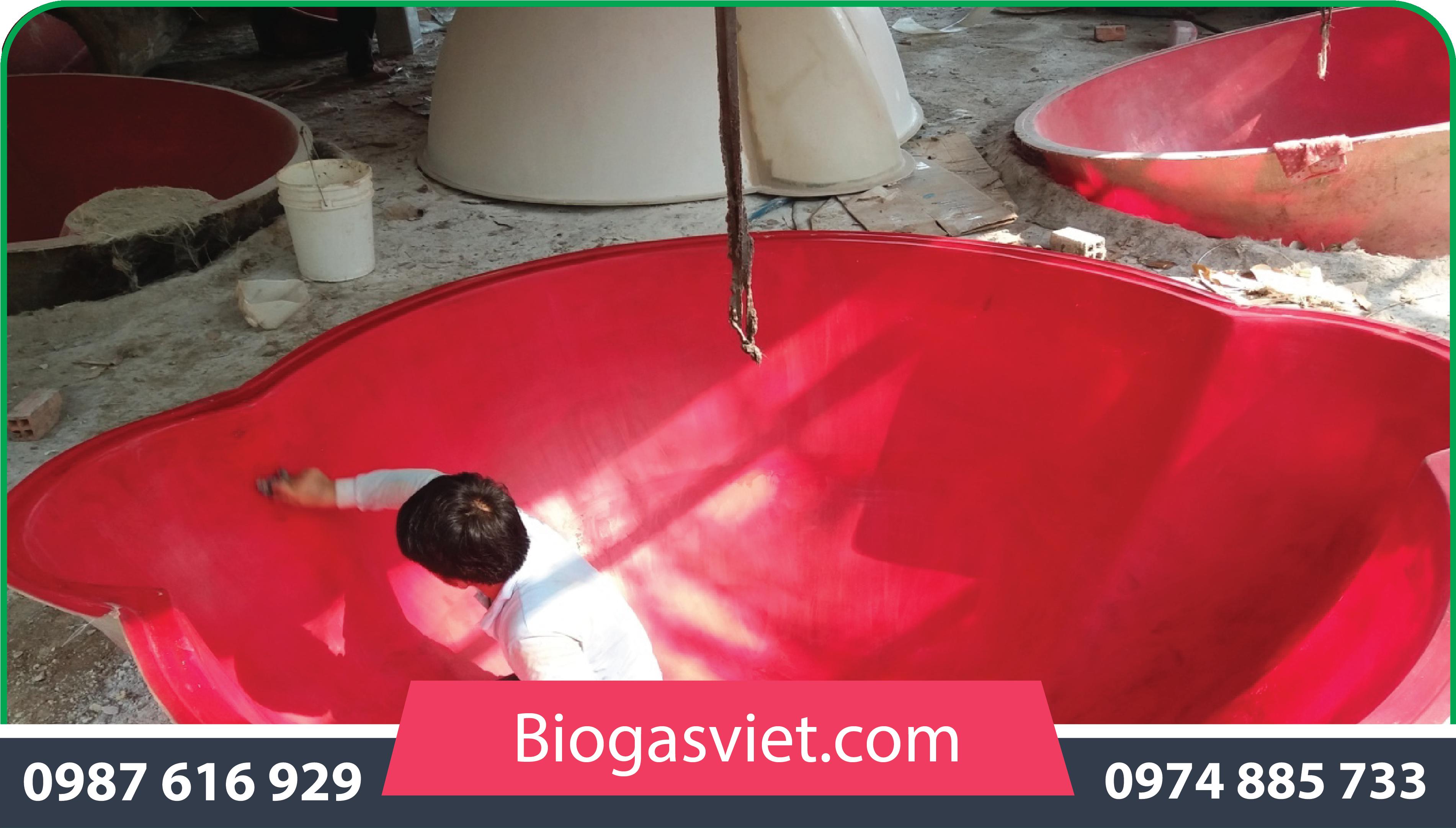 hầm biogas composite cải tiến