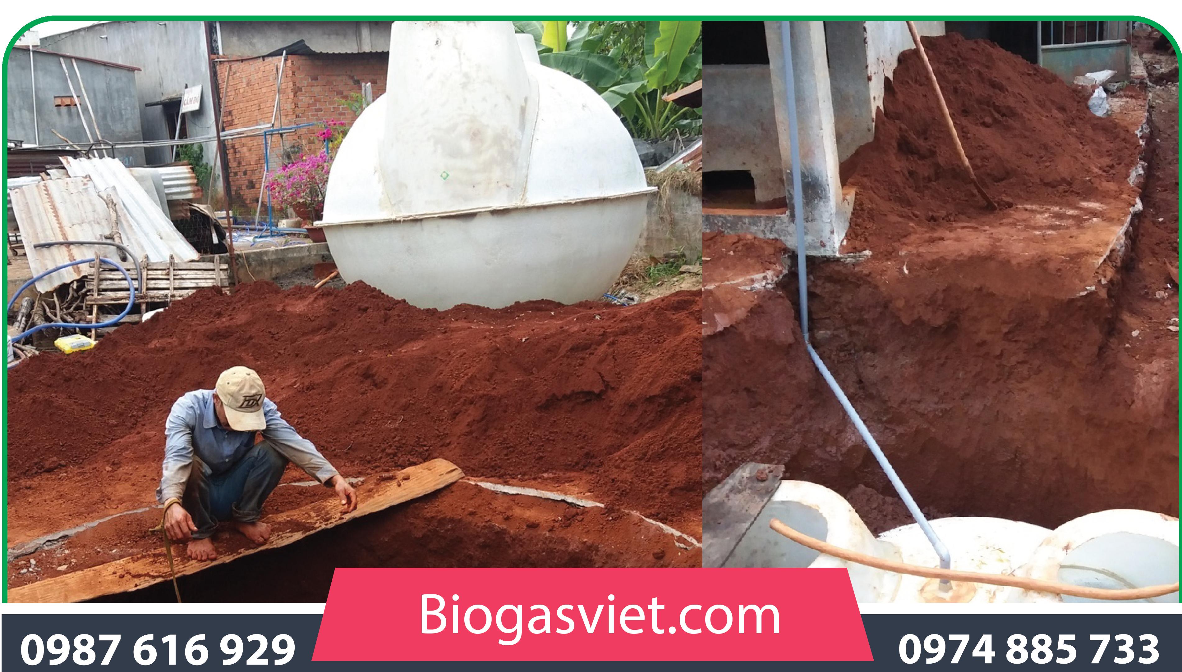 quy trình sản xuấtkhí biogas