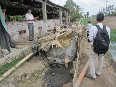 túi ủ khí biogas