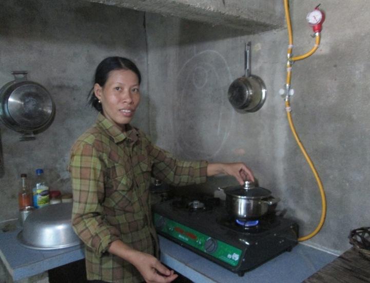 nấu ăn với khí biogas