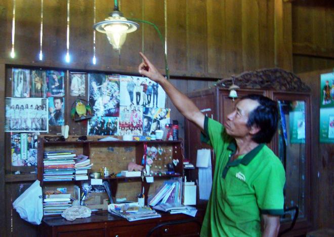 đèn sử dụng điện từ khí biogas