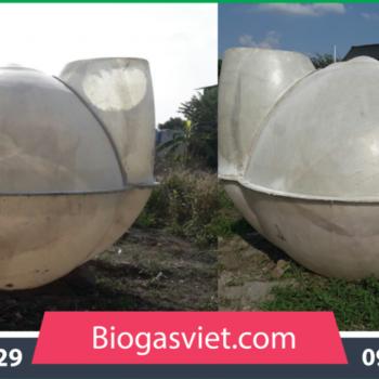 Hầm biogas composite đường kính 2.70m hệ cải tiến BVC