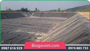 Hầm biogas phủ bạt HDPE
