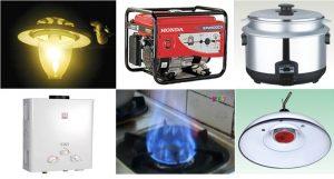 những thiết bị sử dụng khí biogas